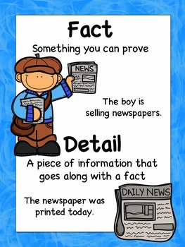 Facts & Details: Flipchart, Worksheets, and Anchor Chart