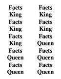 Facts King & Queen Crown Labels