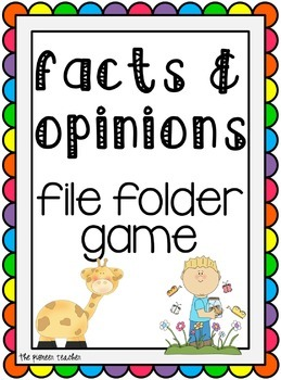 Facts & Opinions File Folder Game
