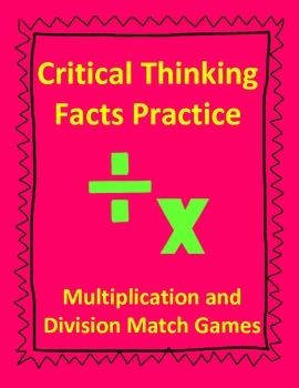 Facts Practice Match Game - Great for Enrichment!