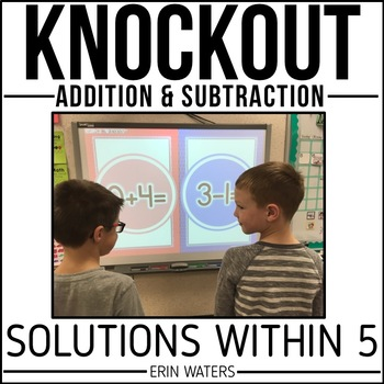 Math Facts Within 5 Game | KNOCKOUT | Addition, Subtraction | Distance Learning