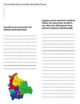(South America Geography) Facts about Bolivia—Reading guide