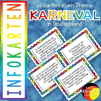 Facts about Carneval in Germany- Taskcards - Karneval & Fasching in Deutschland