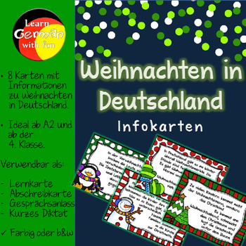 Facts about Christmas in Germany - Taskcards - Weihnachten