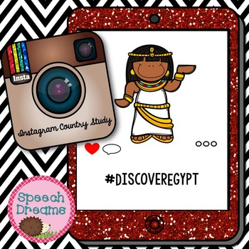 Egypt Country Study Unit {Informational Text} Instagram