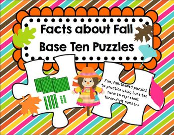 """Facts about Fall"" Base Ten Puzzles"