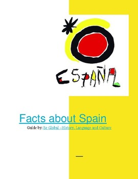 (EUROPE GEOGRAPHY) Facts about Spain - Reading Guide