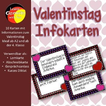 Infokarten zum Thema Valentinstag in Deutschland