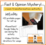 Facts and Opinions Close Reading MYSTERY Case Files!