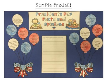 Facts and Opinions Presidents' Day Learning Craft