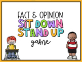 Facts and Opinions Sit Down Stand Up Game