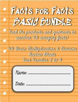 Facts for Facts: Basic Multiplication & Division Code Breaker BUNDLE