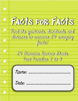 Facts for Facts: Division Code Breaker Activities (Secret Messages)