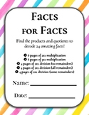 Facts for Facts: Multi-Digit Multiplication and Division C