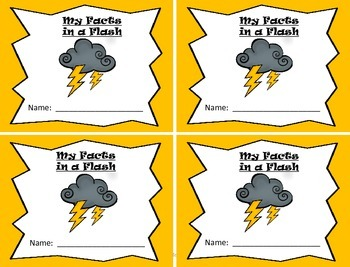 Facts in a Flash!  A Fact Fluency Program for Mastering Addition Math Facts