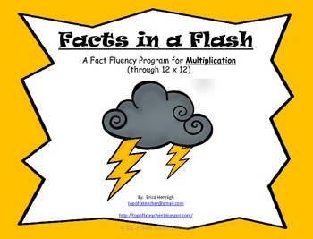 Facts in a Flash!  A Fact Fluency Program to Master Multiplication Math Facts