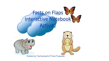 Facts on Flaps Interactive Notebook Science Based Reading Skills