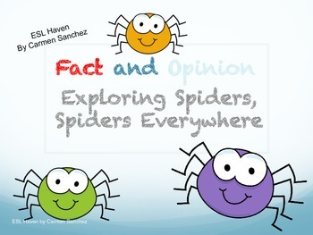 Facts and Opinion Powerpoint - Exploring Spiders Unit