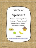 Facts or Opinions ? a sentence sorting activity