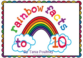 Addition Facts to 10- Rainbow game