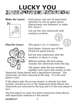 Facts to 18 Addition Worksheets, Ten-Frame, Counters, and Full Color Game