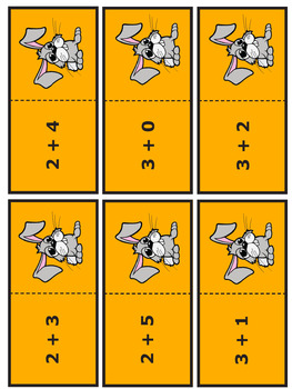 Facts to 7 Addition Worksheets and Full Color Game