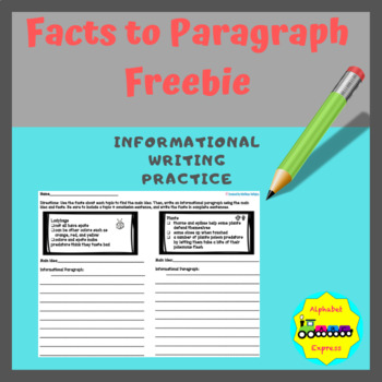 Facts to Paragraph: Informational Writing Practice (Free Edition)