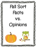 Facts vs. Opinions Fall Sort