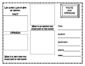 Facts/Opinions Trifold