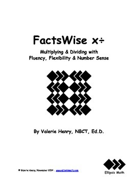FactsWise Multiplication/Division Goal-by-Goal Resource File