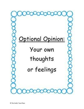 Factual Fact Optional Opinion
