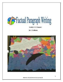 Factual Paragraph Writing  Grades 2 & 3