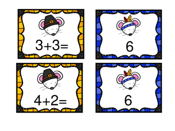 Factually Speaking Thanksgiving Mice Addition Facts 0-12