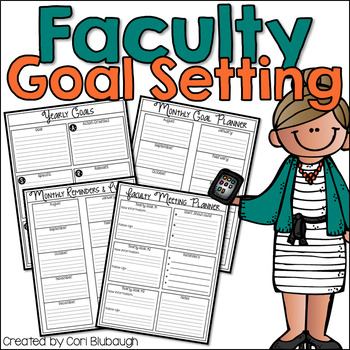 Faculty Goal Setting and Meeting Planner