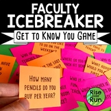 Faculty Ice Breaker Game, Get to Know You