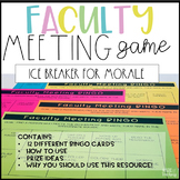 Faculty Meeting Games - Bingo to Boost Staff Morale