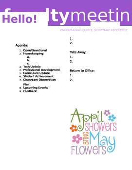 Faculty Meeting Notes Template - April