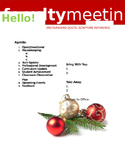 Faculty Meeting Notes Template - Christmas