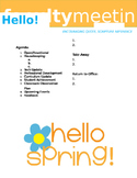 Faculty Meeting Notes Template - Spring