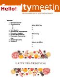 Faculty Meeting Notes Template - Thanksgiving