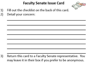 Faculty Senate - Administration Material