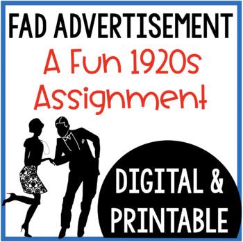 Fad Advertisement: A 1920's Assignment