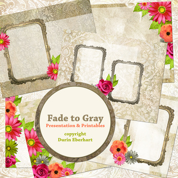 Fade to Gray PowerPoint Presentation and Digital Printable Files