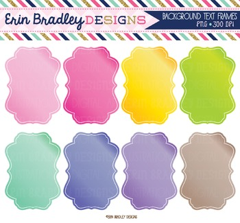 Faded Background Frames Clipart