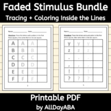 Faded Stimulus Bundle - ABA Therapy Activities - Tracing &