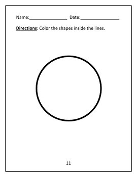 Faded Stimulus - Coloring Inside the Lines - Shapes Worksheets - by AllDayABA