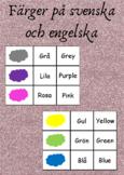 Färger på svenska och engelska