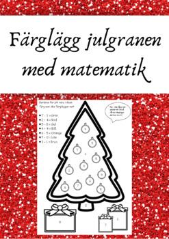 Färglägg julgranen med matematik