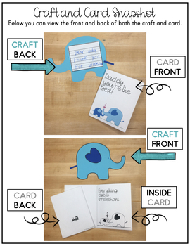 Father's Day Card Kit : Everything's Irrelephant (English/Spanish)