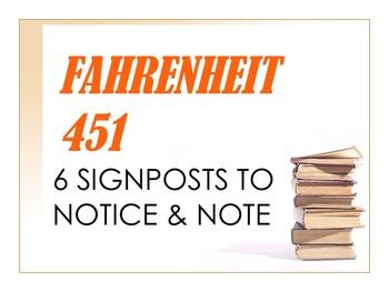 Fahrenheit 451 6 Signposts to Notice & Note